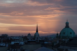 Sonnenuntergang, Wien, Stadt