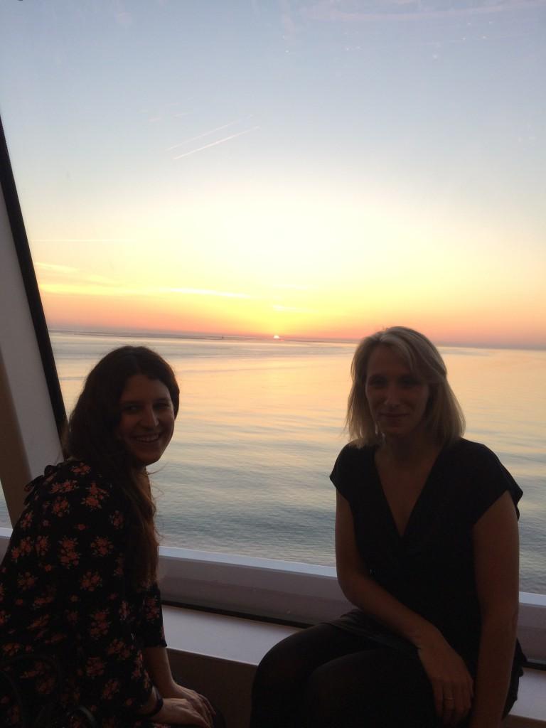 Sonnenuntergang auf der Nowegian Bliss