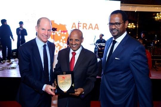 ET_CEO Tewolde GebreMariam (Mitte) bei der 50. Jahresversammlung der AFRAA © Ethiopian Airlines