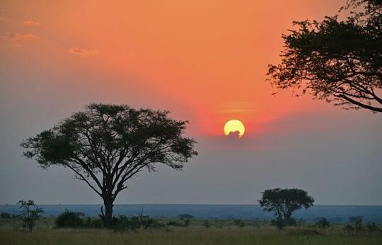 Uganda_Queen Elizabeth Nationalpark Sunset © Peter Hogel