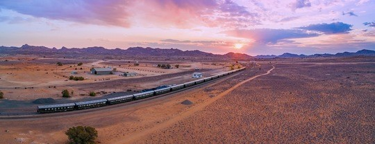 Lernidee Reisen, Sonnenuntergang, Zug